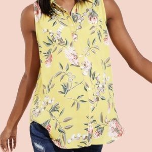 Maternity Sleeveless Floral Blouse